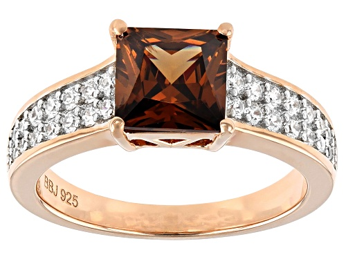 Photo of Bella Luce ® 3.44ctw Mocha And White Diamond Simulants Eterno™ Rose Ring (2.36ctw DEW) - Size 8