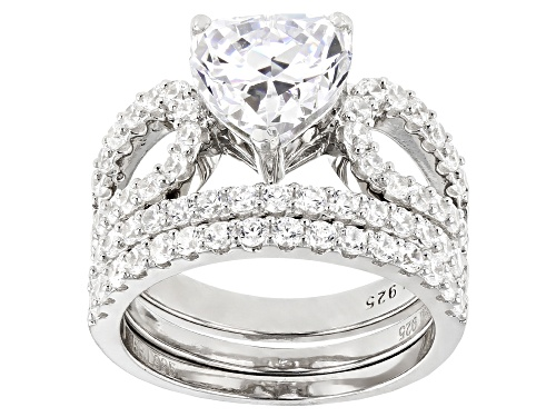 Photo of Bella Luce ® 7.55ctw Rhodium Over Sterling Silver Ring With 2 Bands (3.61ctw DEW) - Size 7