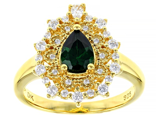 Photo of Bella Luce ® 1.83ctw Emerald And White Diamond Simulants Eterno™ Yellow Ring - Size 6
