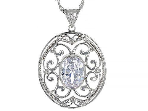 Photo of Bella Luce ® 10.10ctw Rhodium Over Sterling Silver Pendant With Chain (5.81ctw DEW)