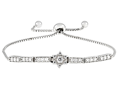 Photo of Bella Luce ® 1.10ctw Rhodium Over Sterling Silver Adjustable Bracelet (0.74ctw DEW)