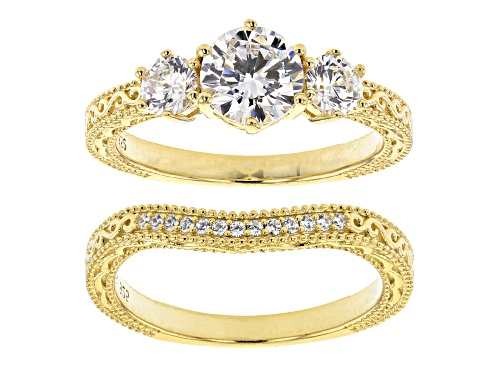 Bella Luce ® 2.86ctw Eterno™ Yellow Ring With Band (1.59ctw DEW) - Size 8