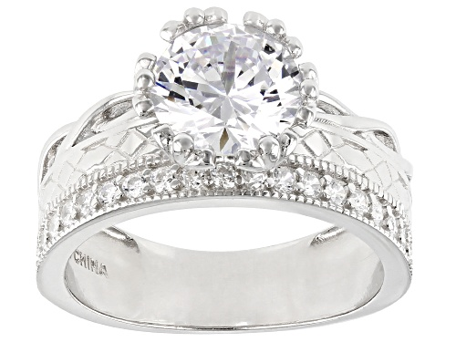 Photo of Bella Luce ® 3.92ctw Rhodium Over Sterling Silver Ring (2.34ctw DEW) - Size 11