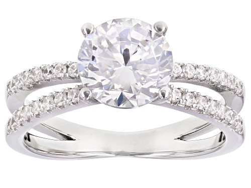 Photo of Bella Luce ® 3.86ctw Rhodium Over Sterling Silver Ring (2.36ctw DEW) - Size 7