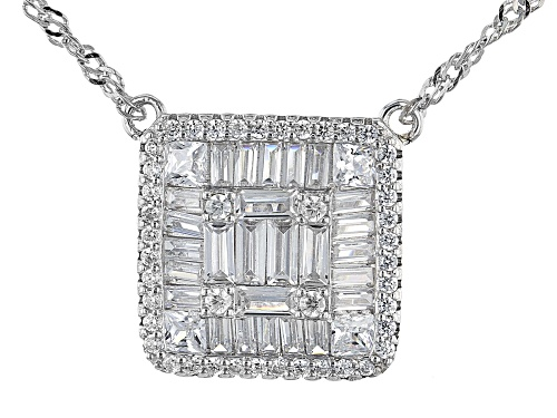 Photo of Bella Luce ® 2.63ctw Rhodium Over Sterling Silver Necklace - Size 18