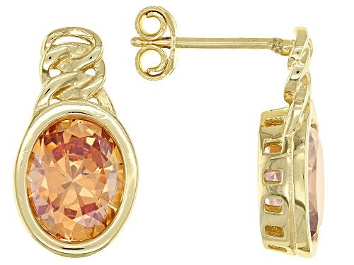 Bella Luce ® 8.70ctw Champagne Diamond Simulant Eterno™ Yellow Earrings (5.08ctw DEW)