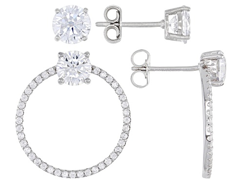 Photo of Bella Luce ® 6.66ctw Rhodium Over Silver Earrings Set of 2 (3.88ctw DEW)
