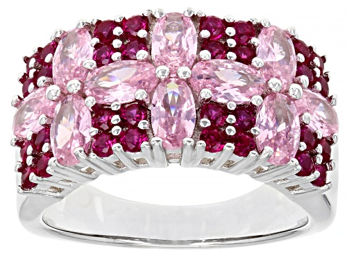 Photo of Bella Luce ® 4.81ctw Lab Created Ruby And Pink Diamond Simulant Rhodium Over Sterling Silver Ring - Size 7