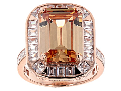 Photo of Bella Luce ® 17.55ctw Champagne And White Diamond Simulants Eterno™ Rose Ring (10.63ctw DEW) - Size 10