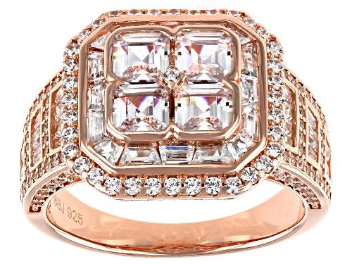 Photo of Bella Luce ® 6.31ctw Eterno™ Rose Asscher Cut Ring - Size 8
