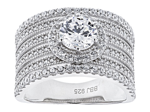 Photo of Bella Luce ® 3.54ctw Rhodium Over Sterling Silver Ring (2.02ctw DEW) - Size 10
