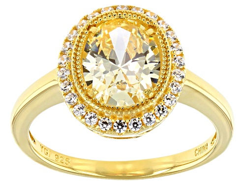 Photo of Bella Luce ® 2.71ctw Canary And White Diamond Simulants Eterno™ Yellow Ring (1.58ctw DEW) - Size 7