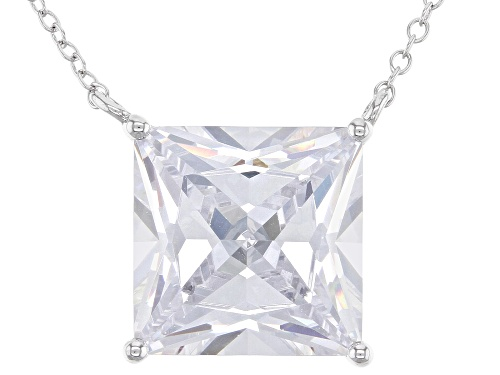 Photo of Bella Luce® 16.18ctw Rhodium Over Sterling Silver Necklace (9.52ctw DEW) - Size 18