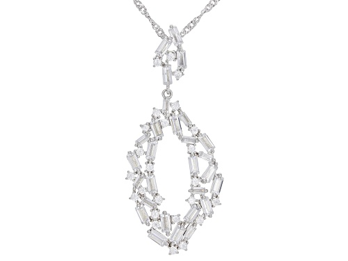 Photo of Bella Luce® 5.21ctw Rhodium Over Sterling Silver Pendant With Chain (3.69ctw DEW)