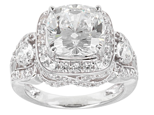 Photo of Bella Luce ® 10.50ctw Round Rhodium Over Sterling Silver Ring - Size 5