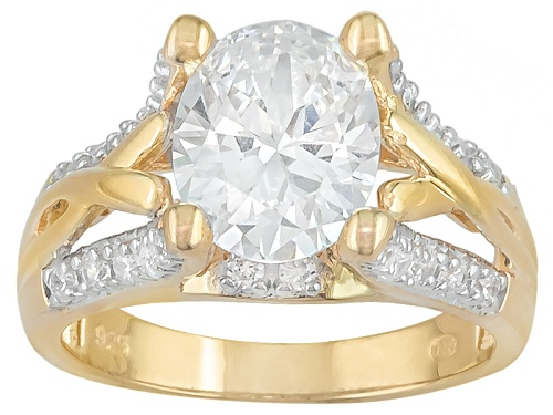 Photo of Bella Luce ® 5.01ctw Oval And Round Eterno ™ Yellow Ring - Size 5