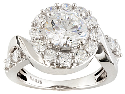 Photo of Bella Luce ® 5.45ctw Round Rhodium Over Sterling Silver Ring - Size 8