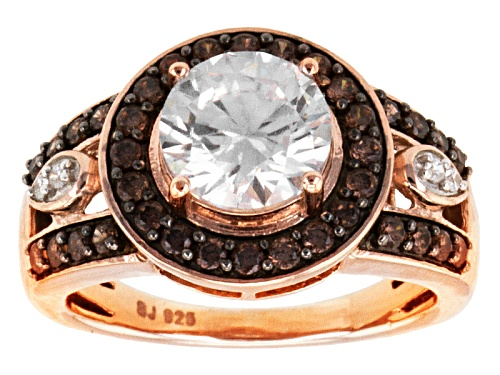 Photo of Bella Luce ® 4.30ctw White And Mocha Diamond Simulant Eterno ™ Rose Ring - Size 5