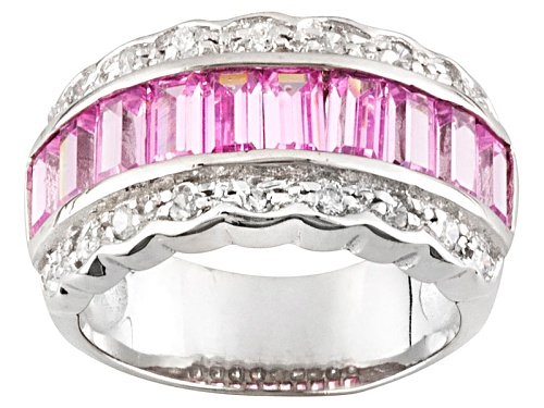 Photo of Bella Luce ® 3.23ctw Pink And White Diamond Simulant Rhodium Over Sterling Silver Ring - Size 7