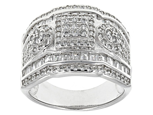 Photo of Bella Luce ® 2.30ctw Round And Baguette Rhodium Over Sterling Silver Ring - Size 5