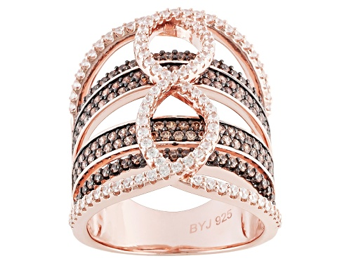 Photo of Bella Luce ® 3.18ctw Champange & White Diamond Simulant Eterno ™ Rose Ring (1.56ctw Dew) - Size 5