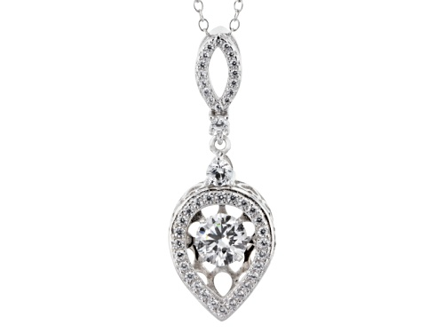 """Photo of Bella Luce ® 2.41ctw Round Rhodium Over Silver """"Dancing Bella"""" Pendant With Chain (1.44ctw Dew)"""
