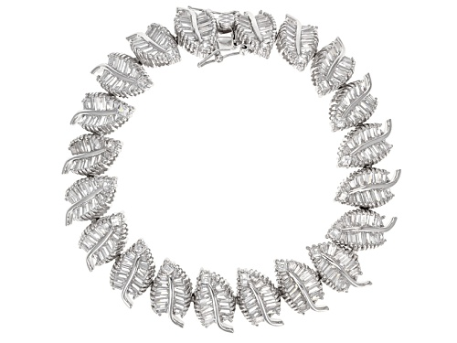 Photo of Bella Luce ® 19.00ctw Baguette Rhodium Over Sterling Silver Bracelet (10.44ctw Dew) - Size 7
