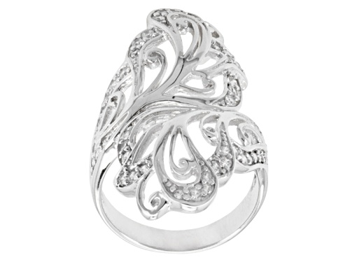 Photo of Bella Luce ® 1.00ctw Diamond Simulant Round Rhodium Over Sterling Silver Ring (.57ctw Dew) - Size 5