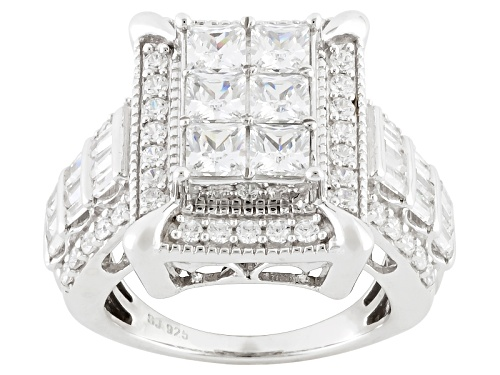 Photo of Bella Luce ® 4.99ctw Diamond Simulant Rhodium Over Sterling Silver Ring (3.33ctw Dew - Size 5