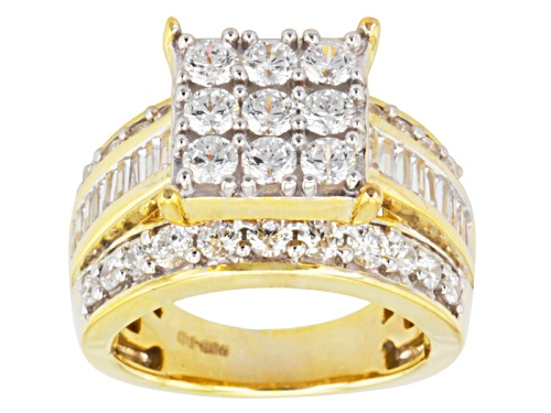 Photo of Bella Luce ® 4.79ctw Diamond Simulant Round & Baguette Eterno ™ Yellow Ring (2.94ctw Dew) - Size 12