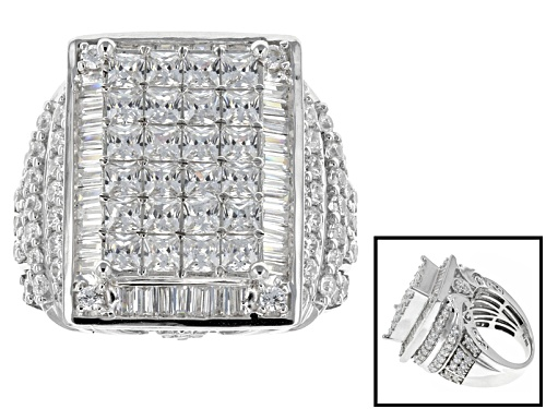 Photo of Bella Luce ® 8.75ctw Diamond Simulant Rhodium Over Sterling Silver Ring (5.57ctw Dew) - Size 5