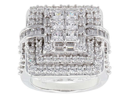 Photo of Bella Luce ® 6.40ctw Diamond Simulant Rhodium Over Sterling Silver Ring (3.82ctw Dew) - Size 6