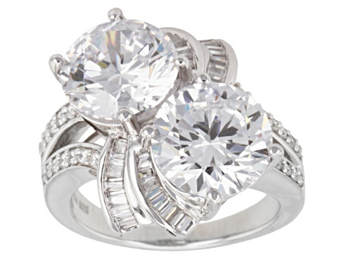 Photo of Bella Luce ® 14.06ctw Diamond Simulant Rhodium Over Sterling Silver Ring (8.46ctw Dew) - Size 5