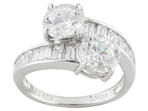 Photo of Bella Luce ® 6.12ctw Diamond Simulant Rhodium Over Sterling Silver Ring (2.32ctw Dew) - Size 10
