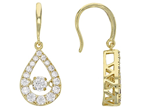 "Photo of Bella Luce ® 2.55ctw Round Eterno™ Yellow ""Dancing Bella"" Earrings (1.61ctw Dew)"