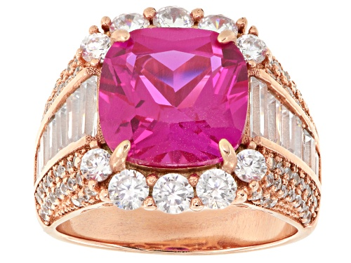 Photo of Bella Luce ® 12.80ctw Ruby And White Diamond Simulants Eterno ™ Rose Ring - Size 5
