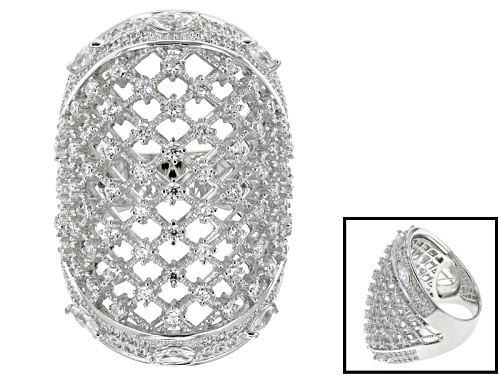 Photo of Bella Luce ® 3.13ctw Round And Marquise Rhodium Over Sterling Silver Ring (1.99ctw Dew) - Size 7