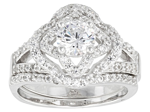 Photo of Bella Luce ® 2.28ctw Round Rhodium Over Sterling Silver Ring With Band (1.26ctw Dew) - Size 6