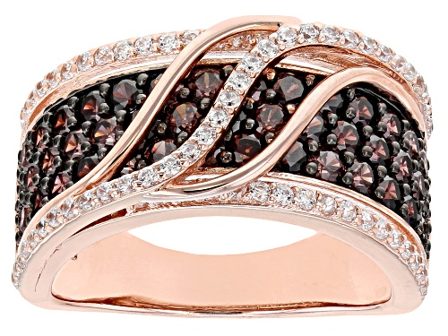 Photo of Bella Luce ® 3.13ctw Mocha And White Diamond Simulants Eterno ™ Rose Ring (1.56ctw Dew) - Size 7