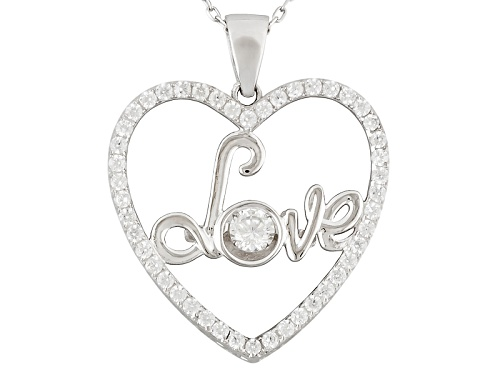 "Photo of Bella Luce ® 1.35ctw Rhodium Over Silver ""Dancing Bella"" Heart Pendant With Chain (.86ctw DEW)"