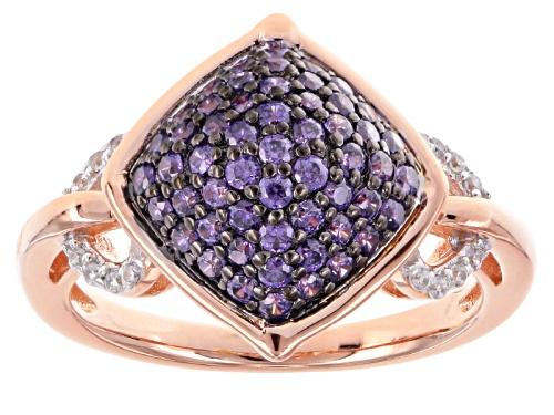 Photo of Bella Luce ® 1.48ctw Purple & White Diamond Simulant Eterno ™ Rose Ring - Size 5