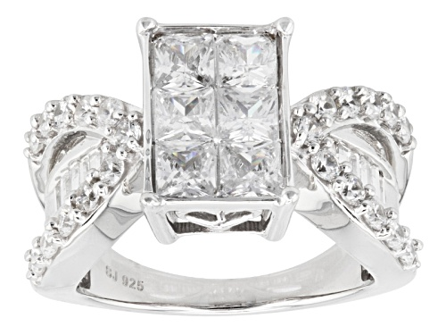 Photo of Bella Luce ® 4.40ctw Diamond Simulant Rhodium Over Sterling Silver Ring (2.94ctw Dew) - Size 8