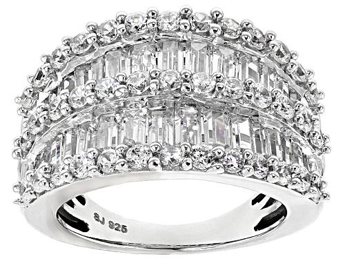 Photo of Bella Luce ® 6.90ctw Diamond Simulant Baguette & Round Rhodium Over Silver Ring (3.06ctw Dew) - Size 10