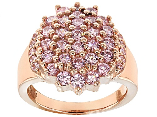 Photo of Bella Luce ® 3.75ctw Pink Diamond Simulant Round Eterno ™ Rose Ring (1.89ctw Dew) - Size 5