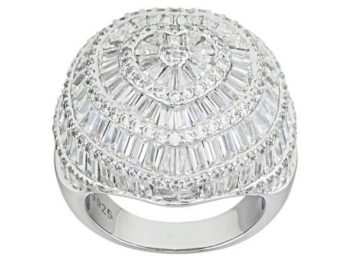 Photo of Bella Luce ® 11.58ctw Diamond Simulant Rhodium Over Sterling Silver Heart Ring (7.92ctw Dew) - Size 5