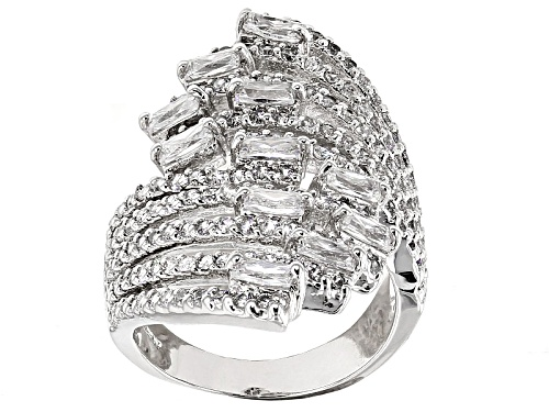 Photo of Bella Luce ® 3.79ctw Diamond Simulant Rhodium Over Sterling Silver Ring (2.37ctw Dew) - Size 5