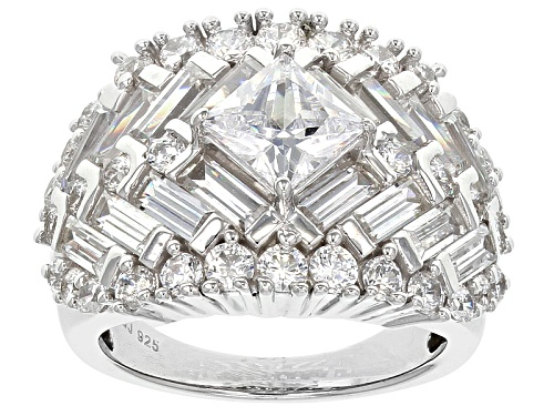 Photo of Bella Luce ® 8.60ctw Diamond Simulant Rhodium Over Sterling Silver Ring (5.48ctw Dew) - Size 6
