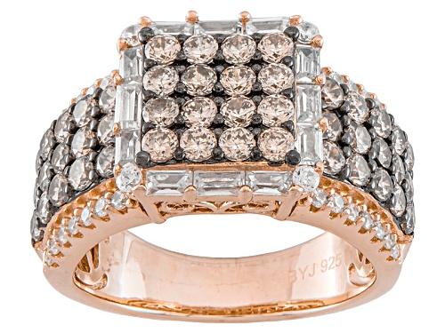 Photo of Bella Luce ® 4.22ctw Champagne & White Diamond Simulant Eterno ™ Rose Ring (2.25ctw Dew) - Size 8