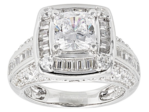 Photo of Bella Luce ® 4.99ctw Rhodium Over Sterling Silver Ring (2.85ctw Dew) - Size 9