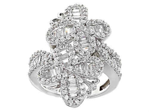 Photo of Bella Luce ® 3.50ctw Diamond Simulant Rhodium Over Sterling Silver Butterfly Ring (3.19ctw Dew) - Size 5